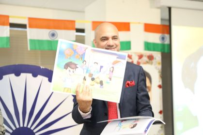 The Consul General of India showcasing Ved and Friends
